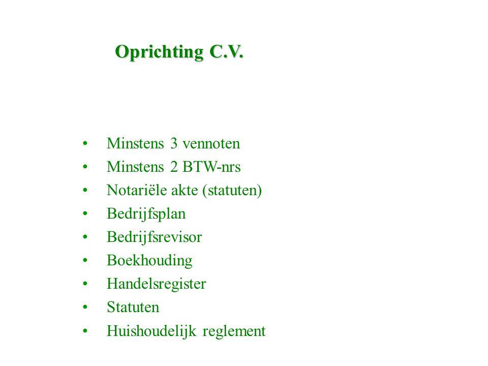 Oprichting C.V.