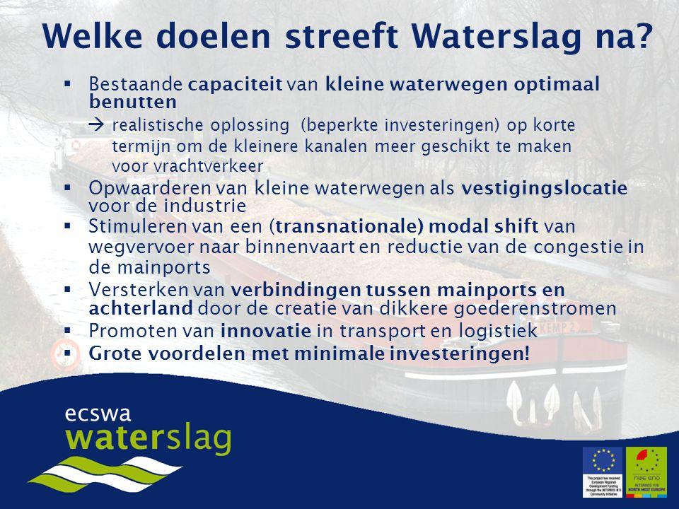 Welke doelen streeft Waterslag na.