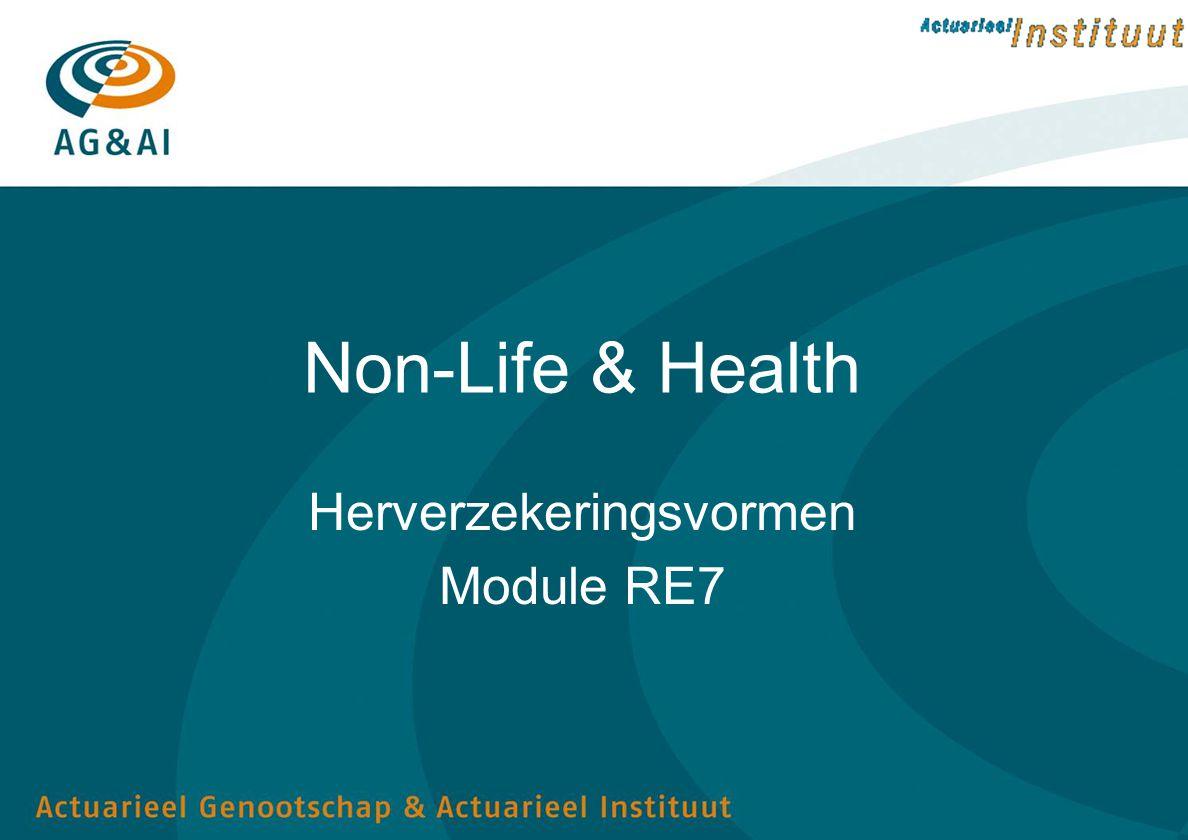 Non-Life & Health Herverzekeringsvormen Module RE7