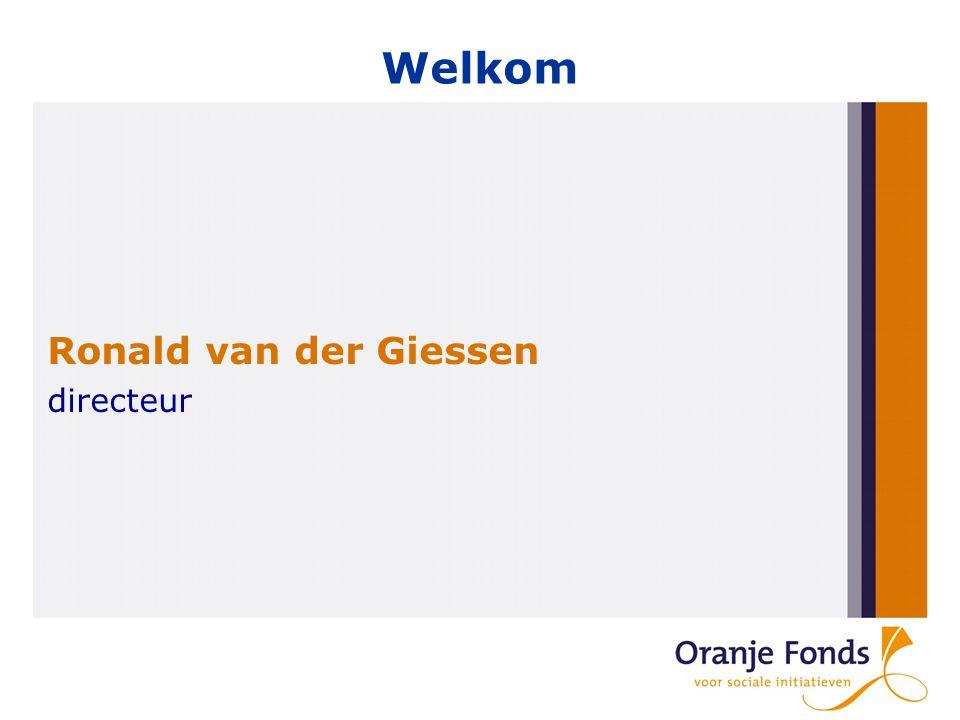 Welkom Ronald van der Giessen directeur