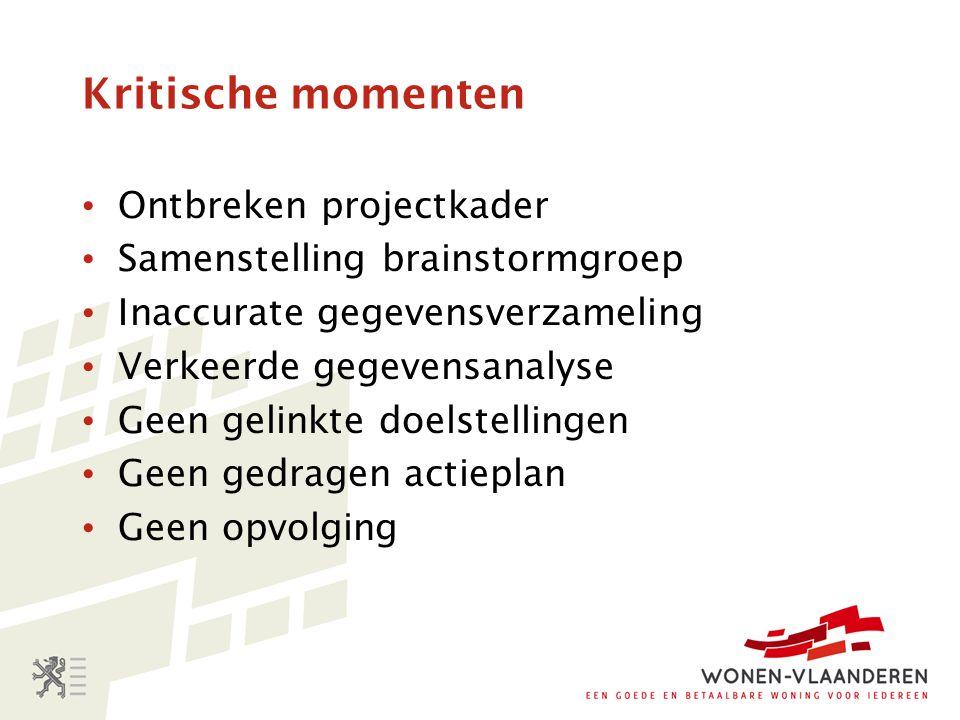 Kritische succesfactoren Extern Afgestemde planningprocedures Stabiele omgeving Middelen.
