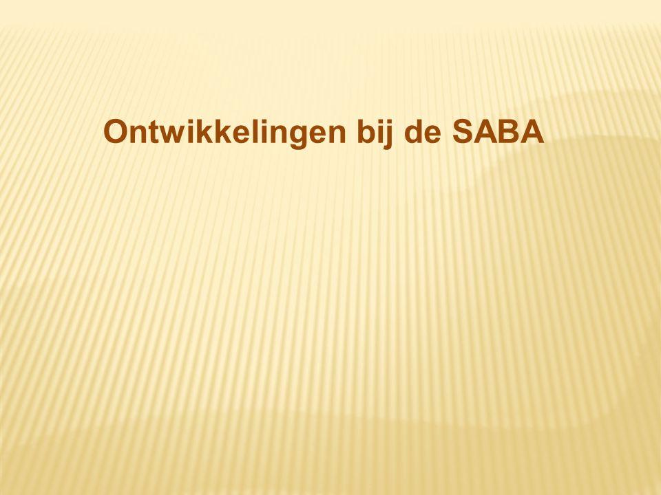 Ontwikkelingen bij de SABA