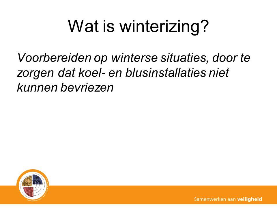 Wat is winterizing? Voorbereiden op winterse situaties, door te zorgen dat koel- en blusinstallaties niet kunnen bevriezen
