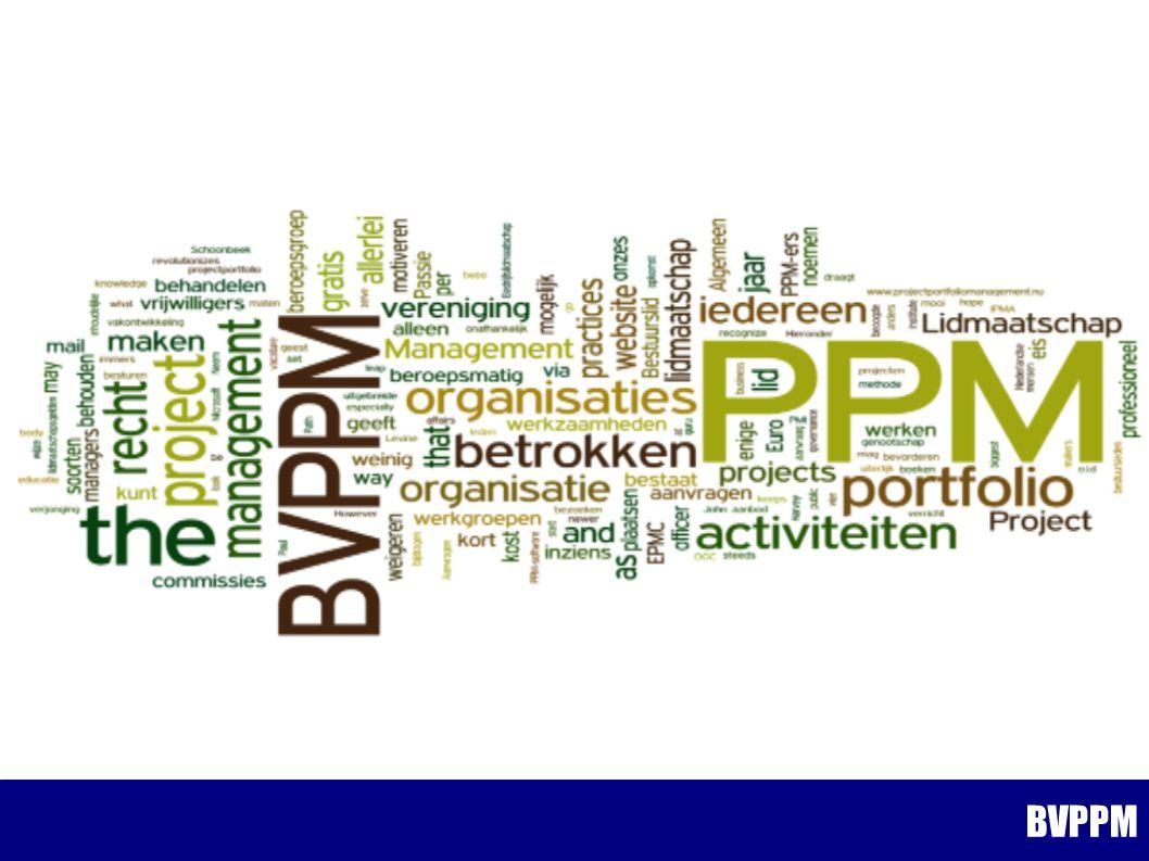 Voorjaarsbijeenkomst 2014 Agenda: Dank aan ConQuaestor voor de gastvrijheid BVPPM Kennismaken Definitie van Benefits Management Benefits Management BVPPM
