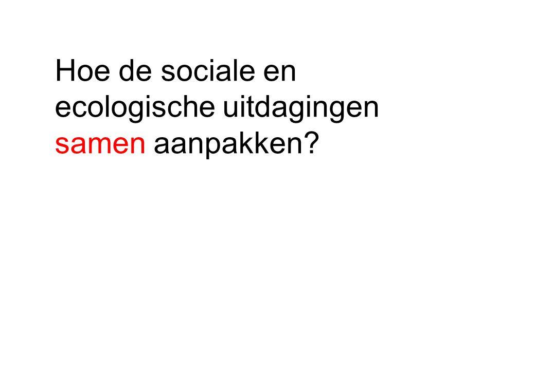 Hoe de sociale en ecologische uitdagingen samen aanpakken?