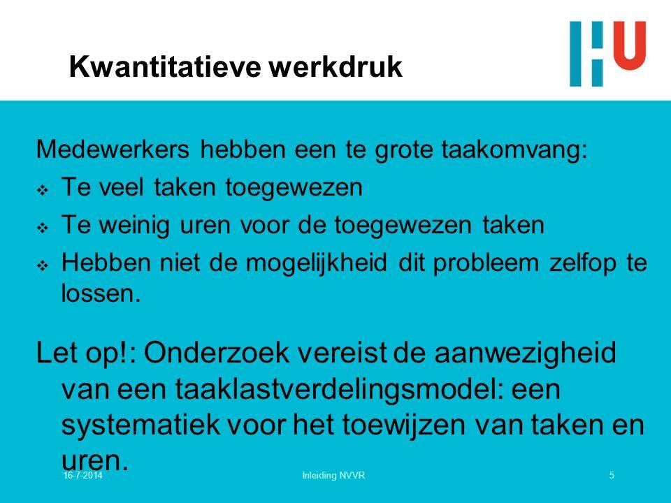 7-11-2000college sociotechniek voor HBO6 Kwalitatieve werkdruk Het Karasek-model Regelvereisten LaagHoog Laag Hoog Regel- capaciteit Stressrisico's Leermogelijk heden