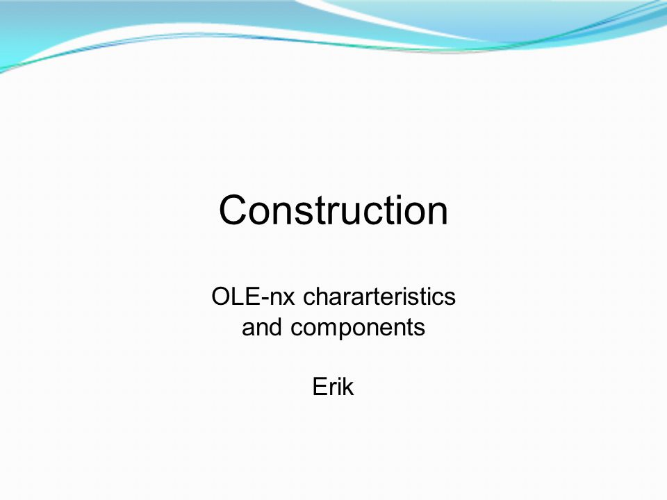 Construction OLE-nx chararteristics and components Erik