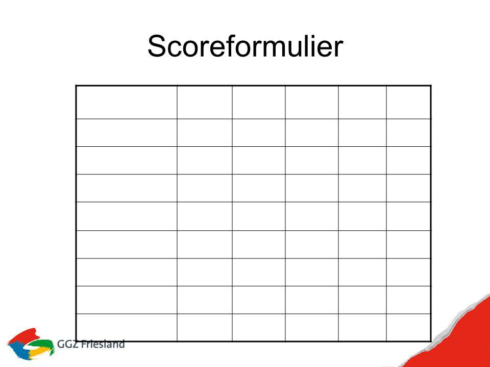 Scoreformulier