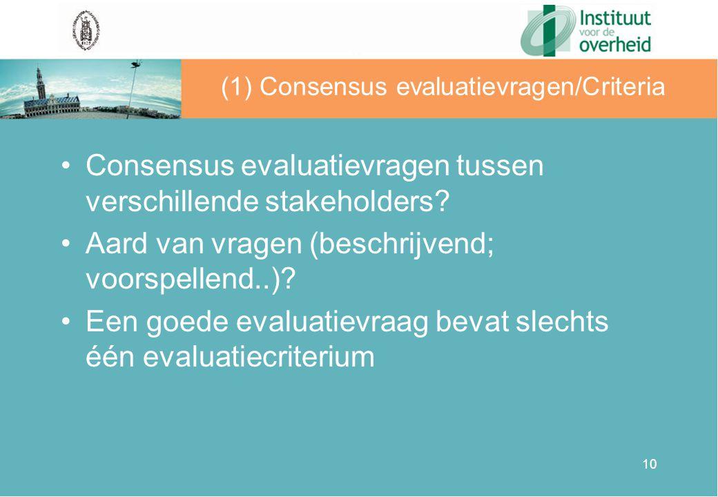11 Evaluatiecriteria