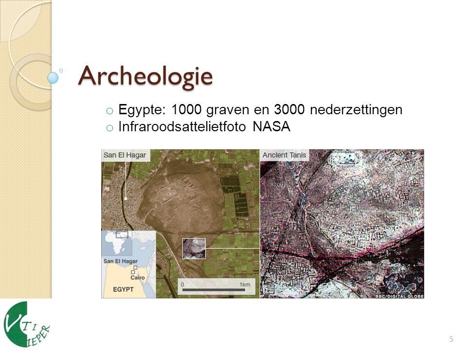 Archeologie 5 o Egypte: 1000 graven en 3000 nederzettingen o Infraroodsattelietfoto NASA