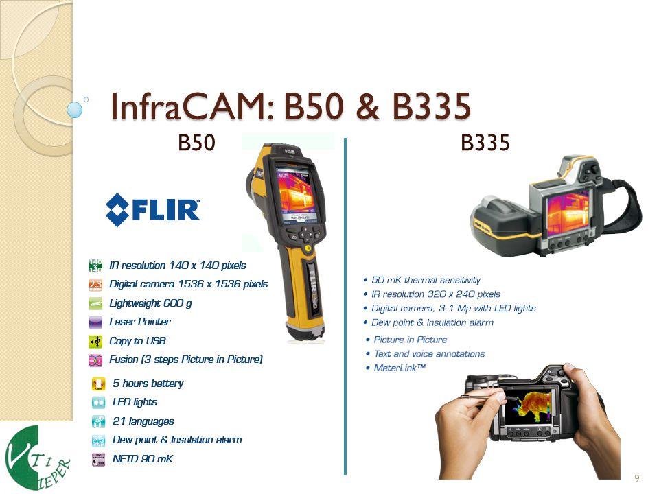 InfraCAM: B50 & B335 9 B50 B335