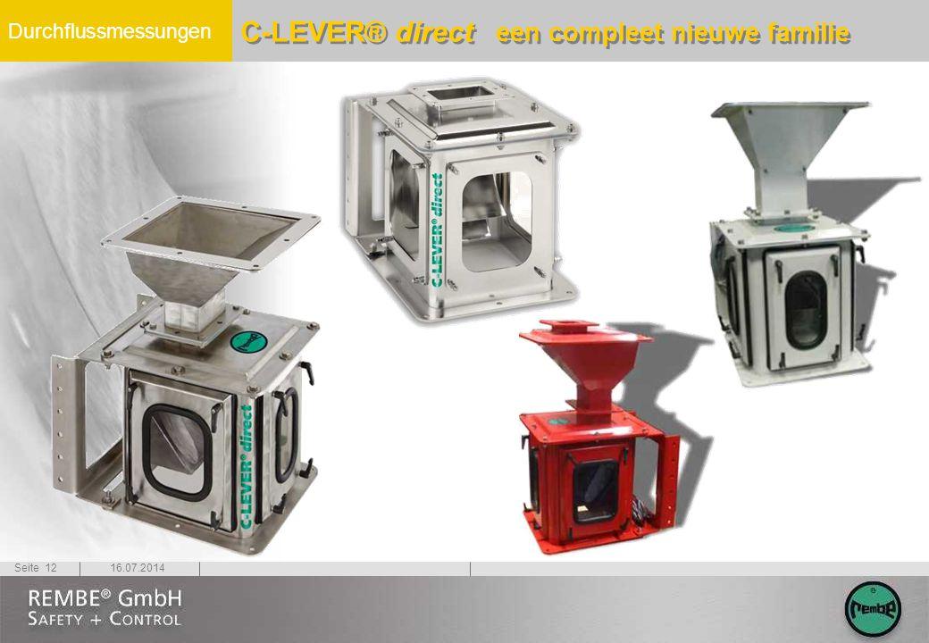 Durchflussmessungen 16.07.2014Seite 12 C-LEVER® direct een compleet nieuwe familie