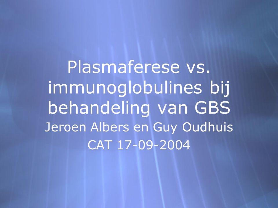 Plasmaferese vs.