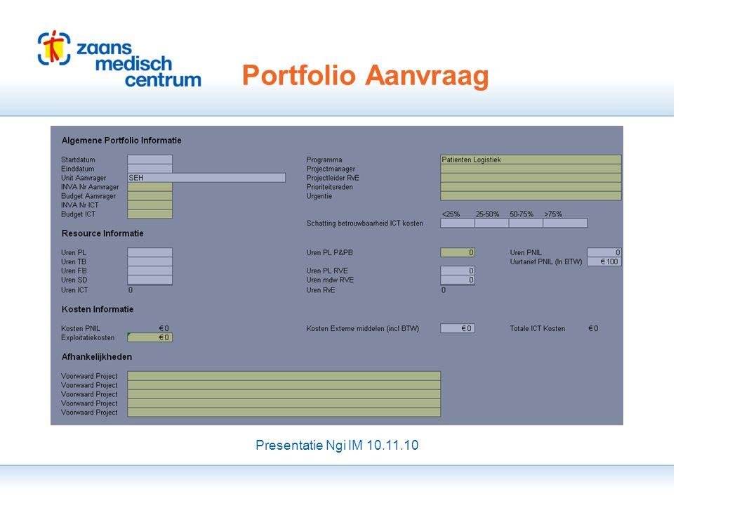 Presentatie Ngi IM 10.11.10 |27 Einde Portfolio Aanvraag Presentatie Ngi IM 10.11.10 1 Registreren 2 Inschatten 3 Afstemmen / Bijwerken 4 Plannen 1 Re