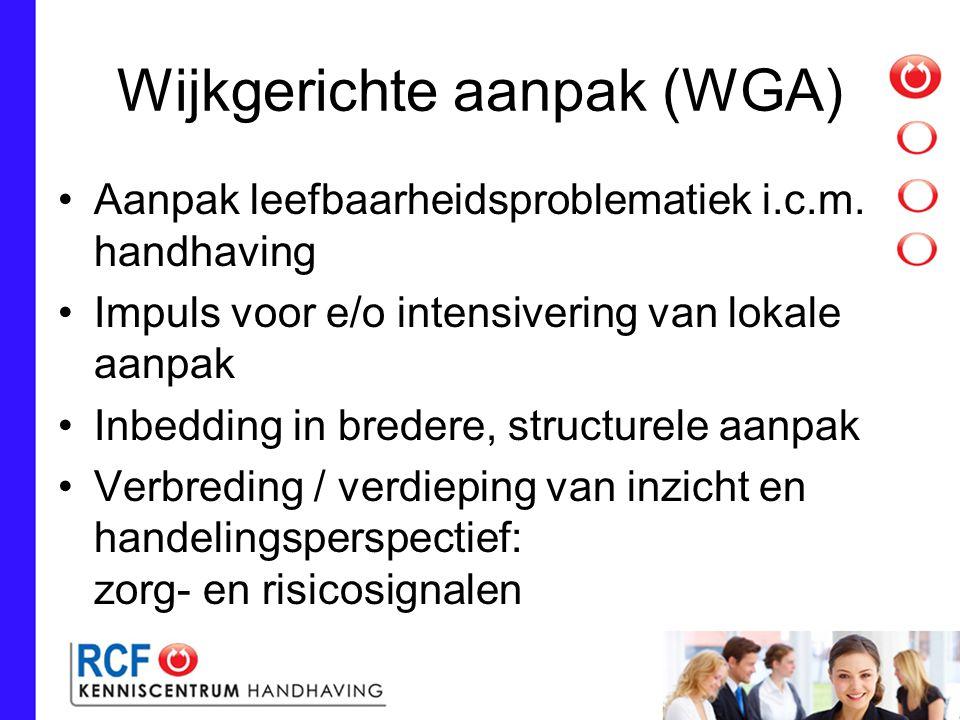 Wijkgerichte aanpak (WGA) Aanpak leefbaarheidsproblematiek i.c.m.