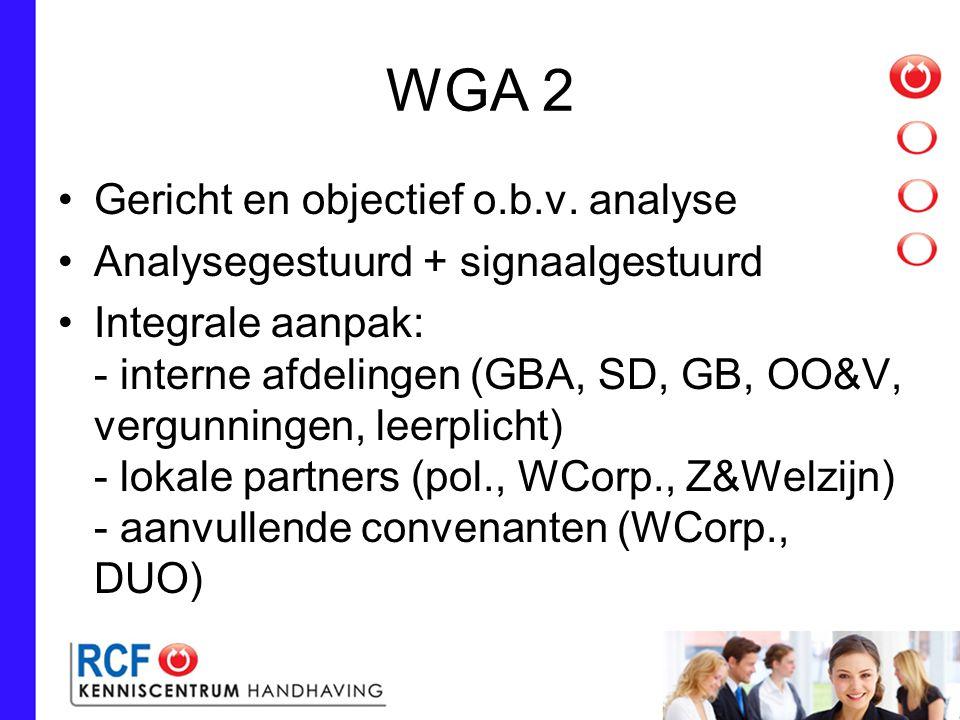 WGA 2 Gericht en objectief o.b.v.