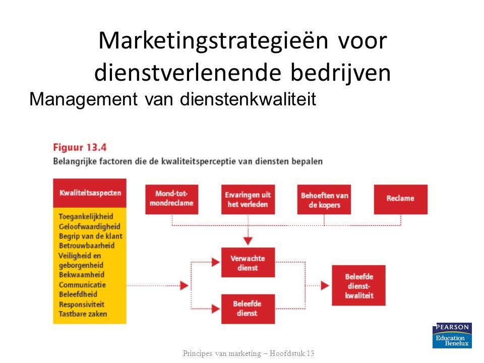 Management van dienstenkwaliteit Principes van marketing – Hoofdstuk 13 Marketingstrategieën voor dienstverlenende bedrijven