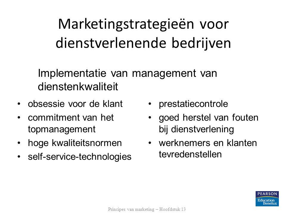 Implementatie van management van dienstenkwaliteit obsessie voor de klant commitment van het topmanagement hoge kwaliteitsnormen self-service-technolo