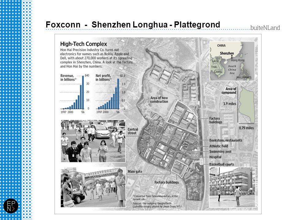 Foxconn - Shenzhen Longhua - Plattegrond