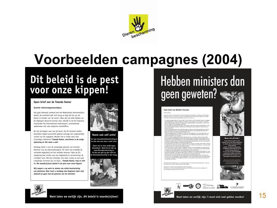 Voorbeelden campagnes (2004) 15