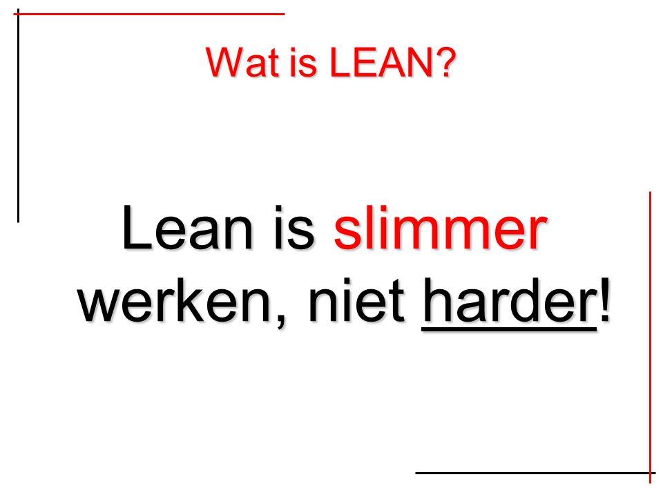 Wat is LEAN? Lean is slimmer werken, niet harder!