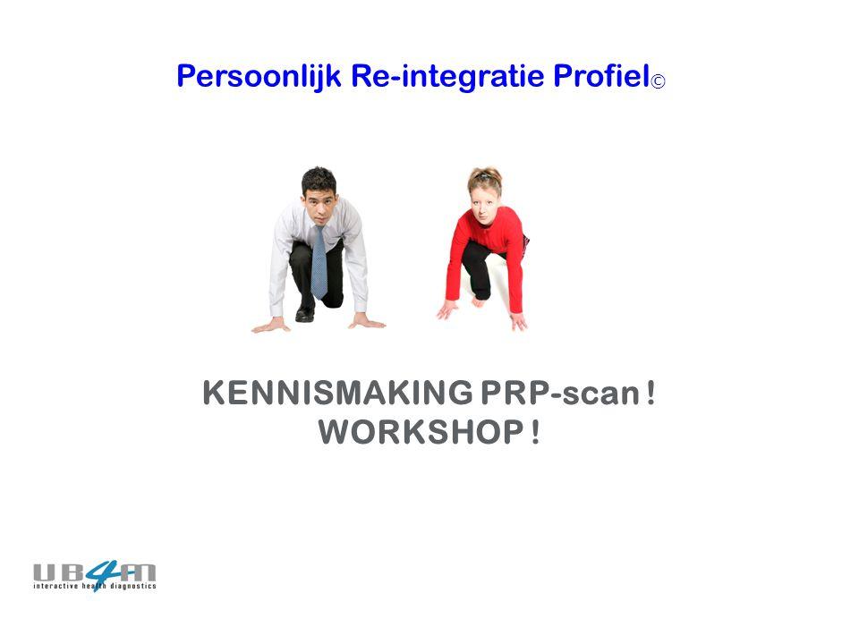 Persoonlijk Re-integratie Profiel © KENNISMAKING PRP-scan ! WORKSHOP !
