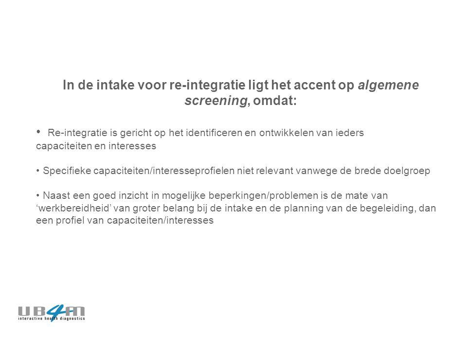 Persoonlijk Re-integratie Profiel © PRP Scan ► 'prima startpositie voor re-integratie'