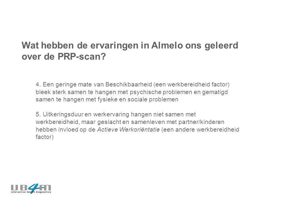 Wat hebben de ervaringen in Almelo ons geleerd over de PRP-scan.
