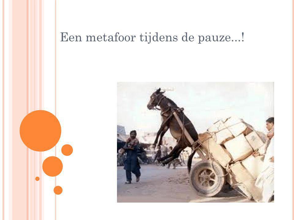 Een metafoor tijdens de pauze...!