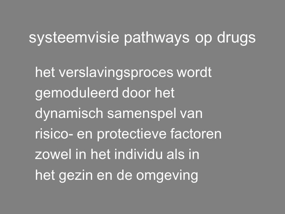 de dynamiek van druggebruik het verslavingsproces 1. experimenteren 2. actief zoeken 3. systematisch gebruik 5. afhankelijkheid ontstaan ontwikkelings
