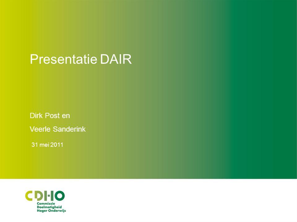 Macrodoelmatigheid DAIR 31 mei 2011 12 Voorwaarden Beleidsregel bij nieuwe opleiding a: Nieuw beroep.