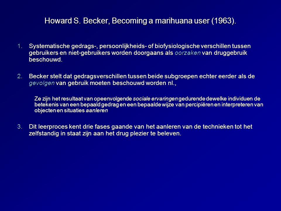 Howard S.Becker, Becoming a marihuana user (1963).