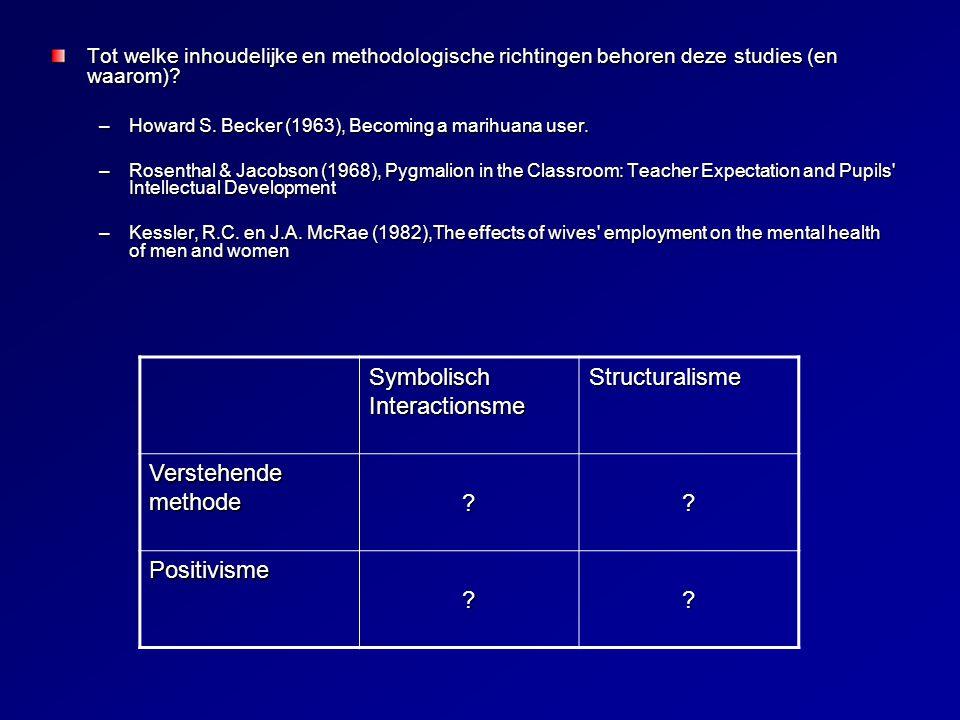Tot welke inhoudelijke en methodologische richtingen behoren deze studies (en waarom).
