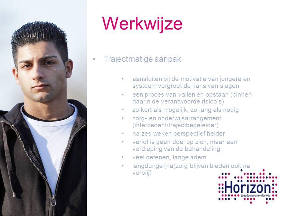 Werkwijze Trajectmatige aanpak aansluiten bij de motivatie van jongere en systeem vergroot de kans van slagen een proces van vallen en opstaan (binnen