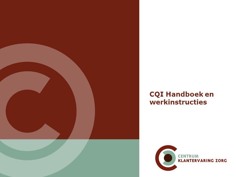 CQI Handboek en werkinstructies