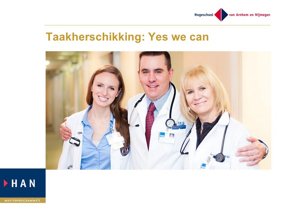 Taakherschikking: Yes we can