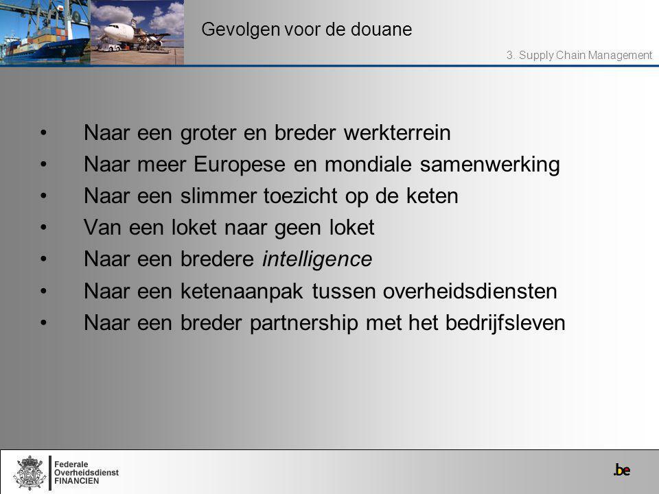 Naar een groter en breder werkterrein Naar meer Europese en mondiale samenwerking Naar een slimmer toezicht op de keten Van een loket naar geen loket