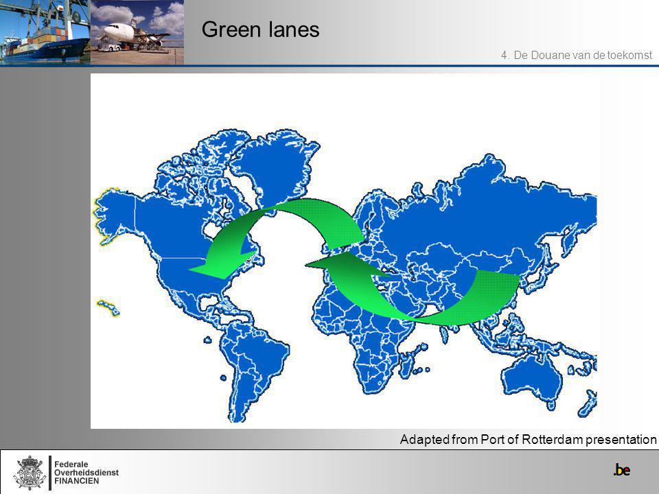 Green lanes 4. De Douane van de toekomst Adapted from Port of Rotterdam presentation
