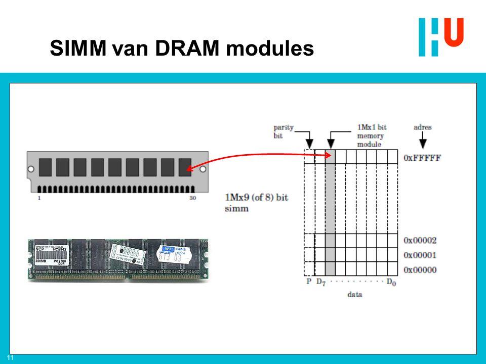11 SIMM van DRAM modules