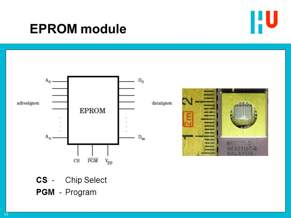 13 CS -Chip Select PGM -Program EPROM module