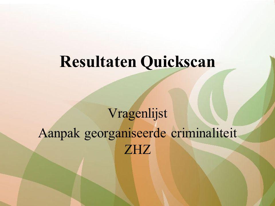 Resultaten Quickscan Vragenlijst Aanpak georganiseerde criminaliteit ZHZ