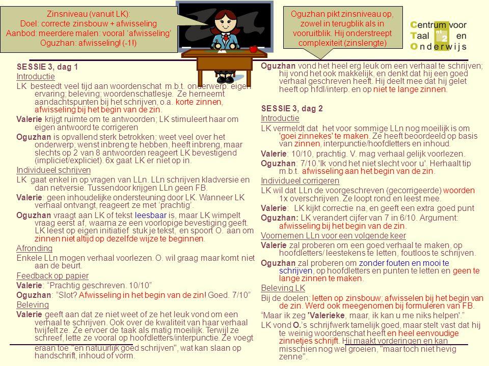 SESSIE 3, dag 1 Introductie LK besteedt veel tijd aan woordenschat m.b.t.