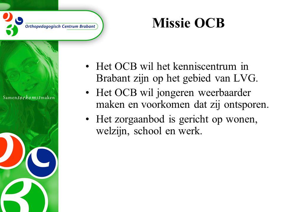 Missie OCB Het OCB wil het kenniscentrum in Brabant zijn op het gebied van LVG. Het OCB wil jongeren weerbaarder maken en voorkomen dat zij ontsporen.