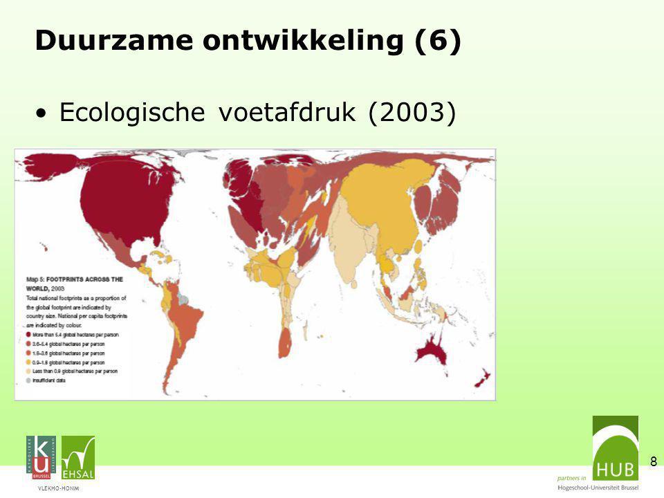 VLEKHO-HONIM 8 Duurzame ontwikkeling (6) Ecologische voetafdruk (2003)