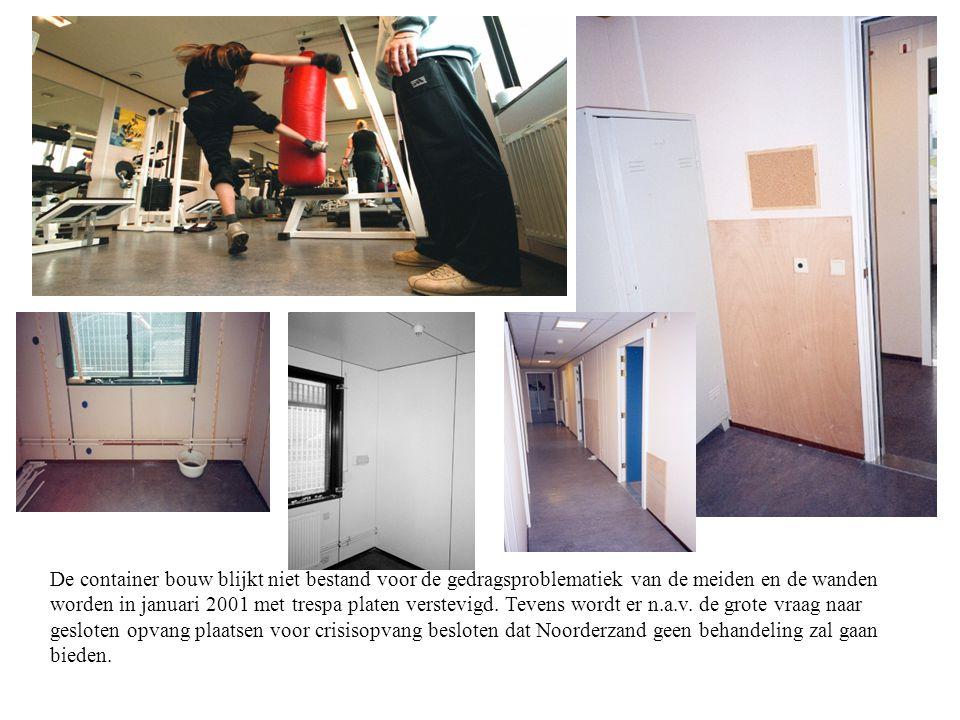 1 november 2000 komen de eerste meisjes voor crisisopvang binnen Noorderzand. …