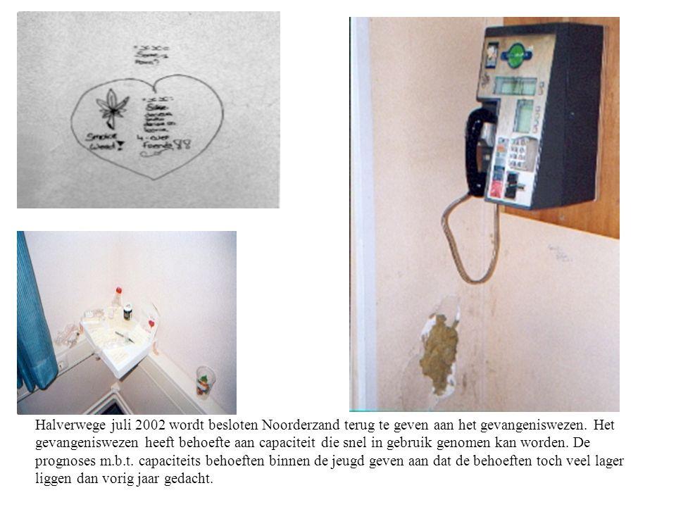 Halverwege juli 2002 wordt besloten Noorderzand terug te geven aan het gevangeniswezen.