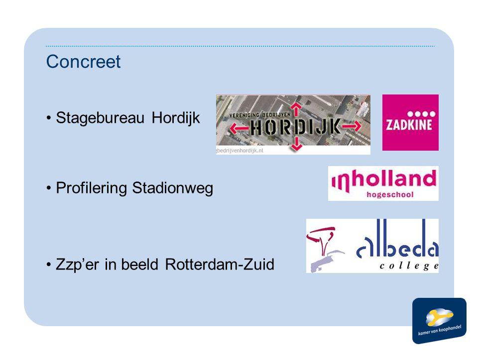Concreet Stagebureau Hordijk Profilering Stadionweg Zzp'er in beeld Rotterdam-Zuid