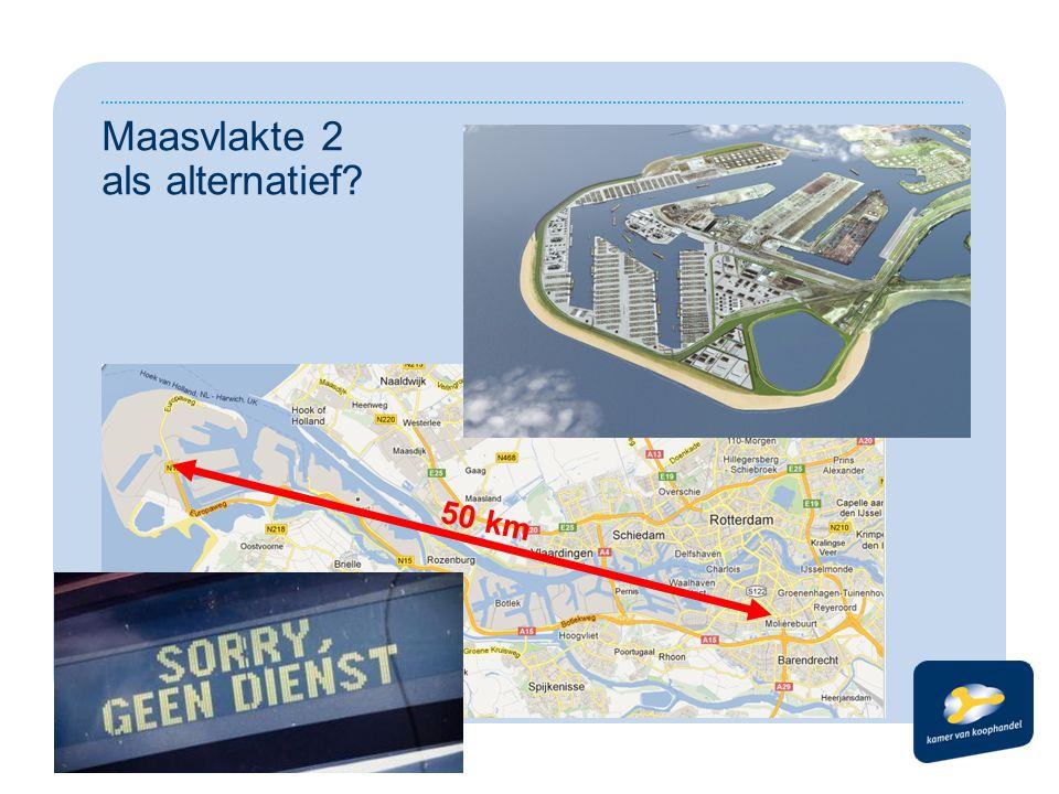Maasvlakte 2 als alternatief? 50 km