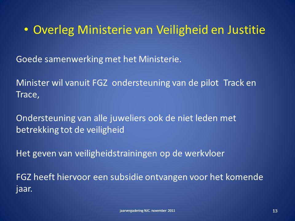 Overleg Ministerie van Veiligheid en Justitie jaarvergadering NJC.