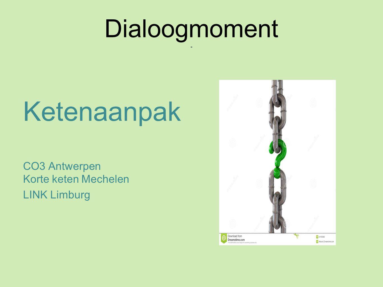 Verloop presentatie Wat is een ketenaanpak (15 min.) .